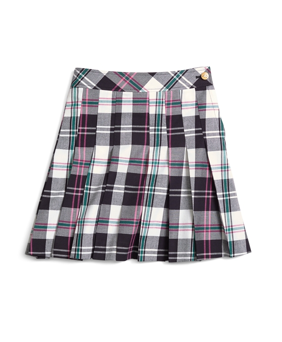 Pleated Tartan Skirt Pink-Green