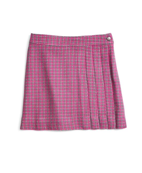 Houndstooth Skirt Pink-Grey