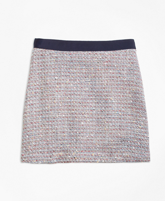 Multicolor Boucle Skirt