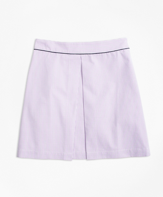 Seersucker Box Pleat Skirt Purple