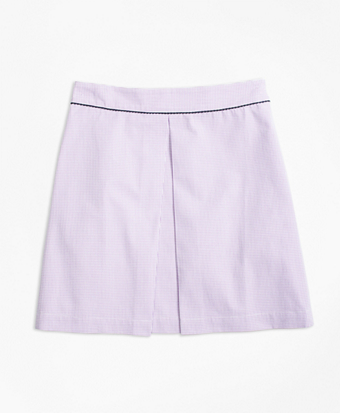 Seersucker Box Pleat Skirt