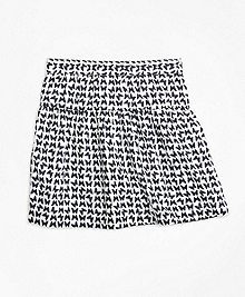 Cotton Butterfly Print Skirt