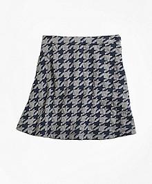 Jacquard Houndstooth Skirt