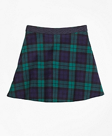 Velvet Black Watch Skirt