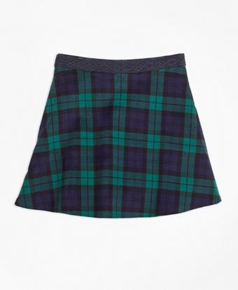 Velvet Black Watch Skirt