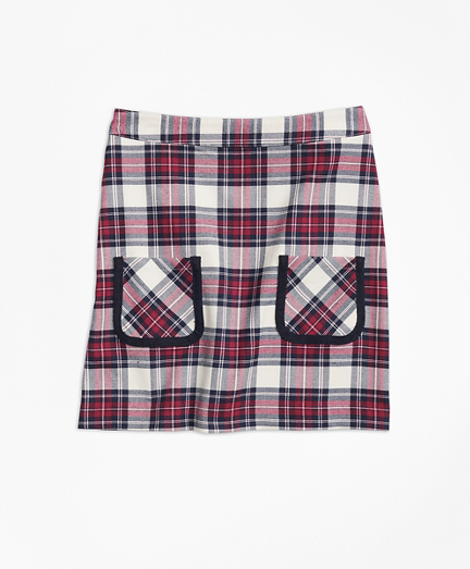 Twill Plaid Skirt