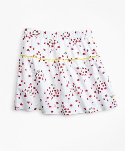 Cotton Bug Print Skirt