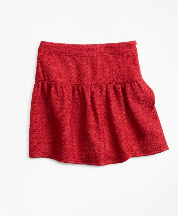 Boucle Skirt Red