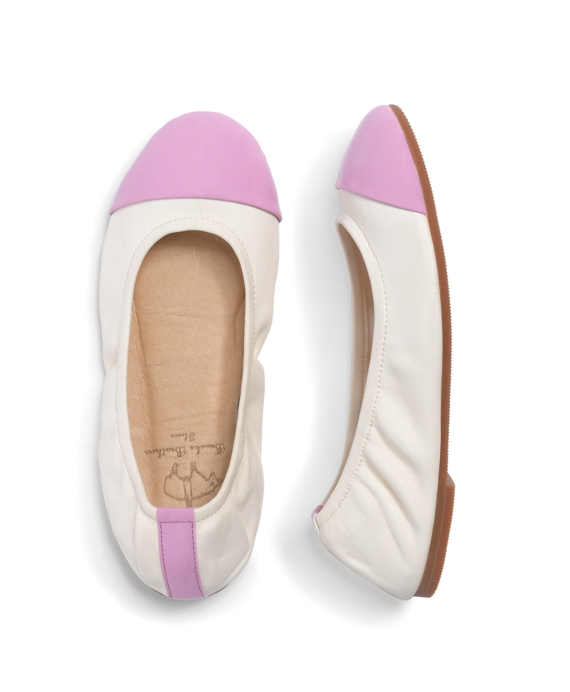 Leather Cap Toe Ballet Flats Vanilla Ice