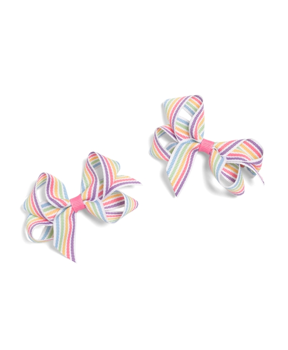 Toddler Spring Stripe Bow Multi