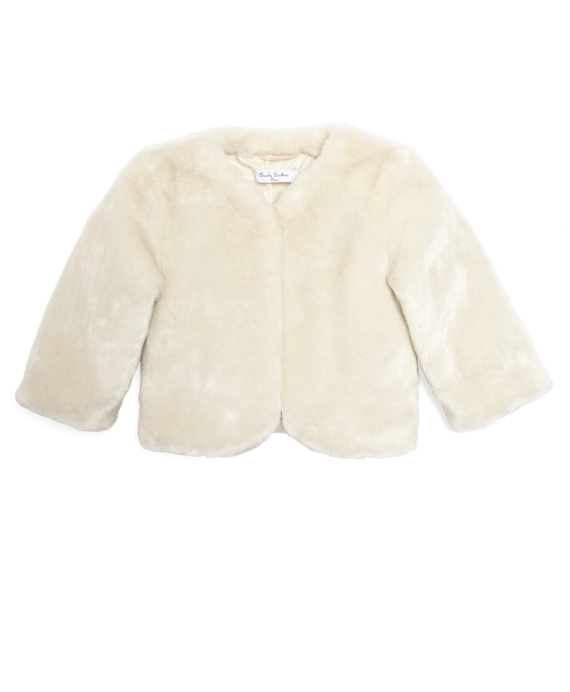 Faux Fur Jacket Ivory