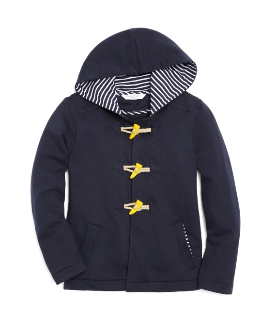 Fleece Toggle Coat Navy