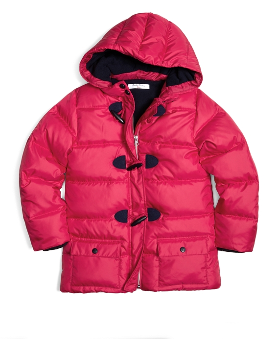 Down Puffer Coat Red