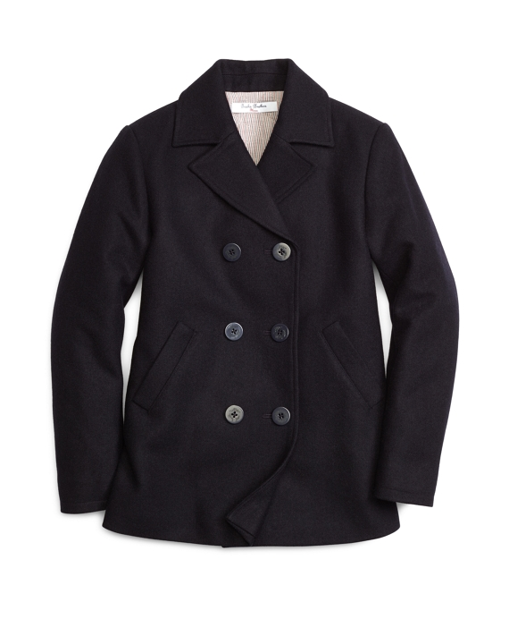 Double-Breasted Pea Coat Navy
