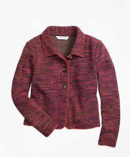 Cotton Stretch Boucle Jacket