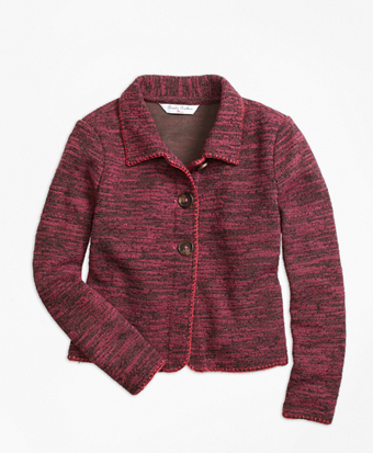 Cotton Stretch Boucle Jacket
