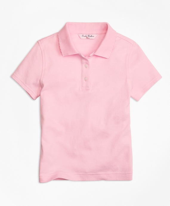 Short-Sleeve Polo Light Pink