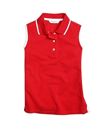 Sleeveless Tipped Polo