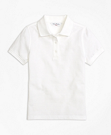 Short-Sleeve Pique Polo Shirt