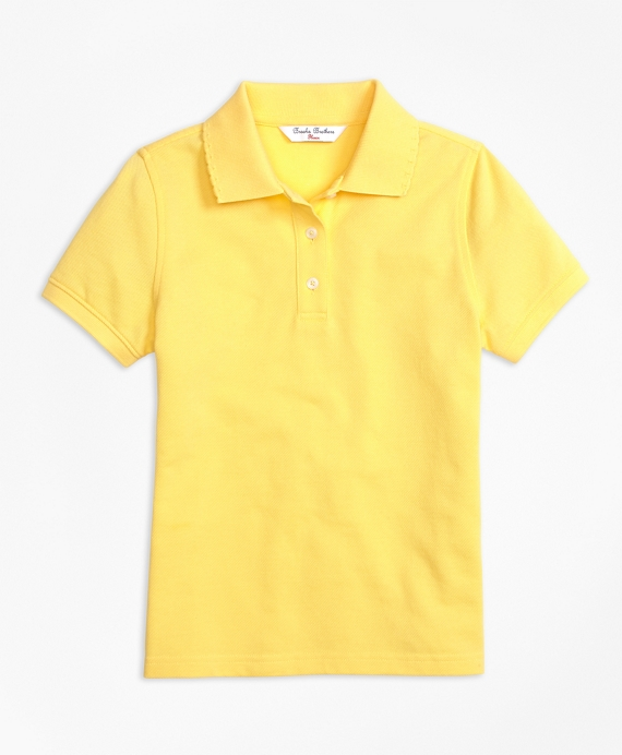 Short-Sleeve Pique Polo Shirt Yellow