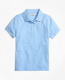 Short-Sleeve Pique Polo Shirt