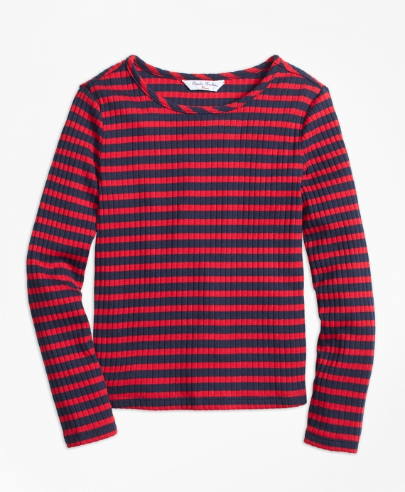 Stripe T-Shirt Navy-Red