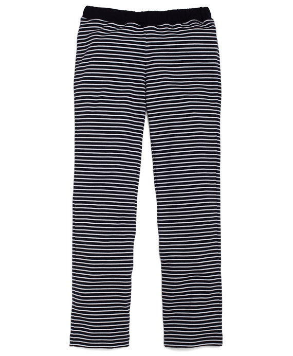 Striped Knit Pant Navy-White