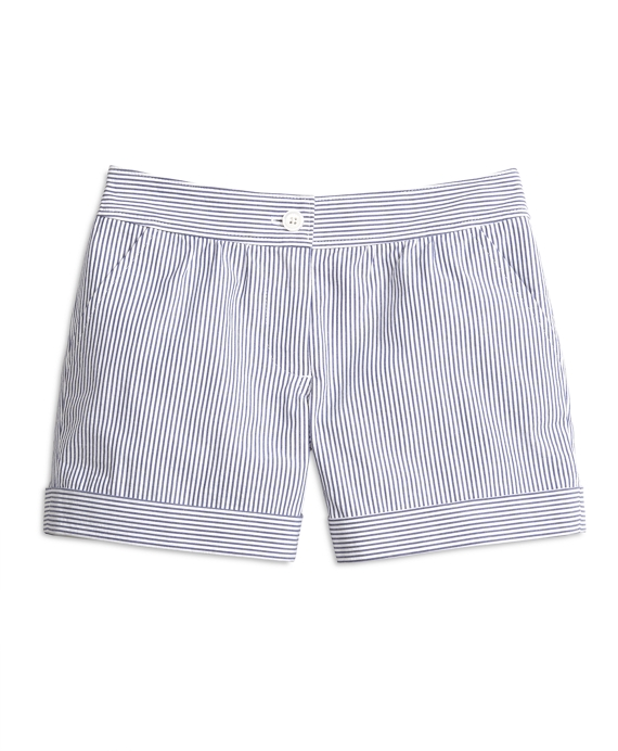 Seersucker Shorts Blue