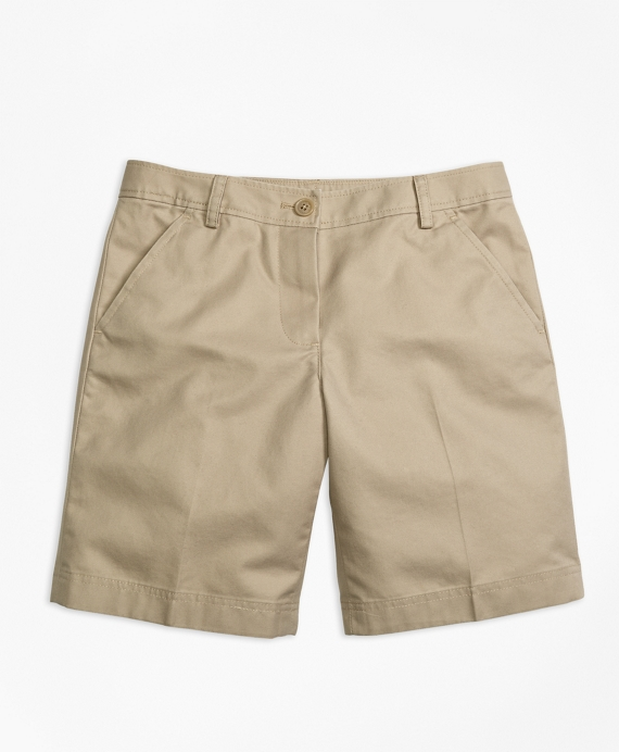 Girls' Khaki Non-Iron Chino Bermuda Shorts | Brooks Brothers