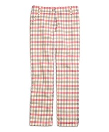 Ankle Length Check Pants