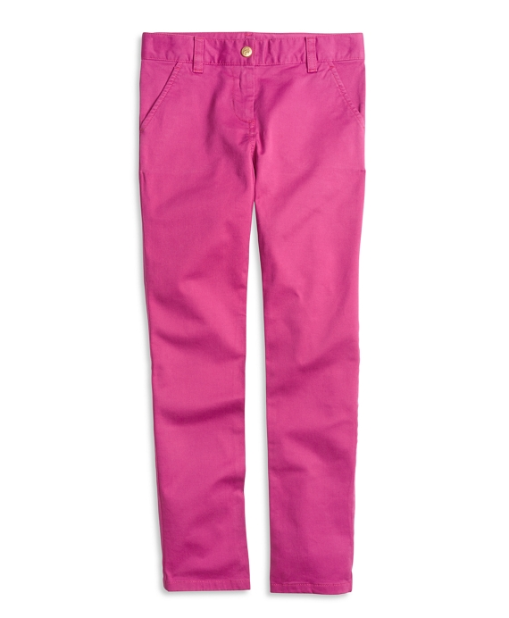 Cotton Stretch Skinny Pants Pink