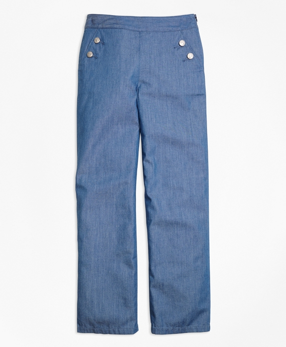 Chambray Pants Chambray Blue