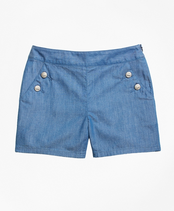 Chambray Shorts Chambray Blue