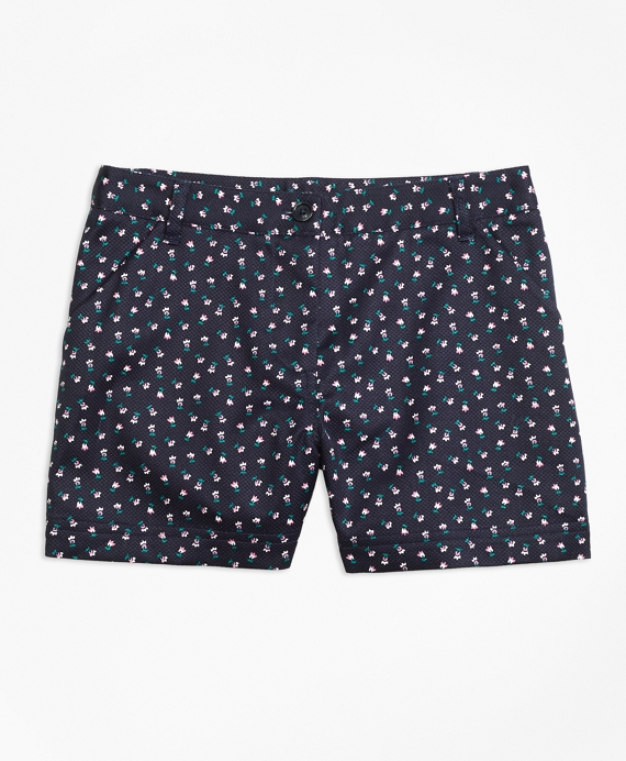 Cotton Stretch Floral Shorts