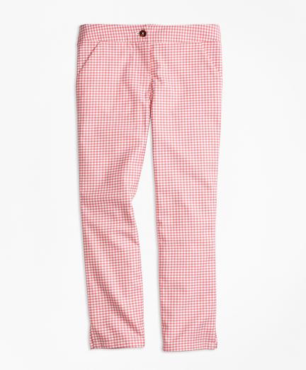 Stretch Cotton Check Pants