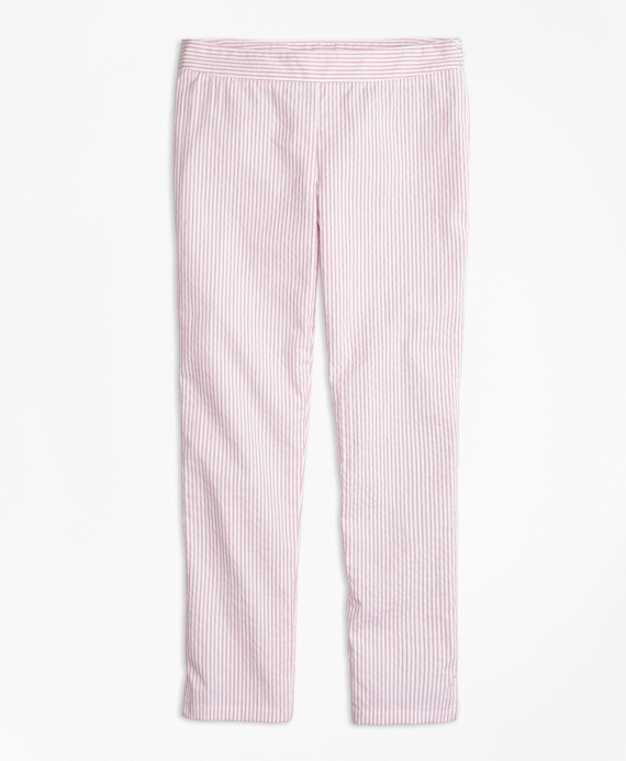 Stretch Cotton Seersucker Pants