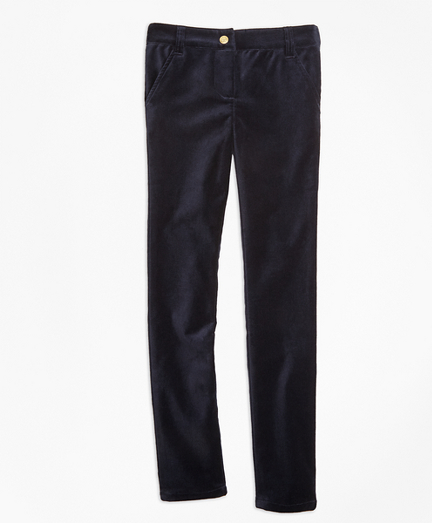 Stretch Velvet Cotton Five-Pocket Pants