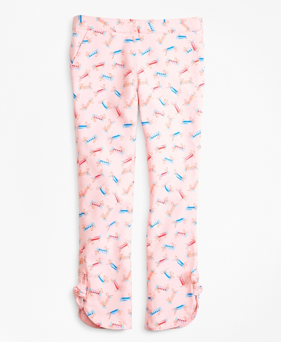 Cotton Tossed Candy Print Pants Light Pink
