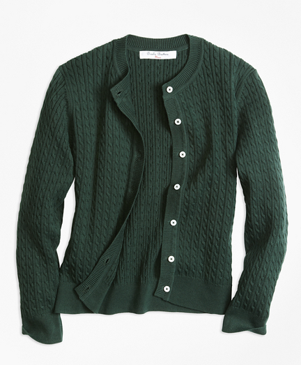 Long-Sleeve Mini Cable Cardigan
