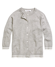 Supima® Cotton Three-Quarter Sleeve Cardigan