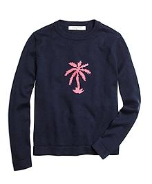 Supima® Cotton Palm Tree Sweater