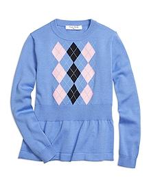 Peplum Argyle Sweater