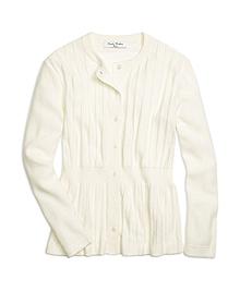 Supima® Cotton Peplum Cardigan