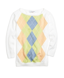 Argyle Boatneck Sweater