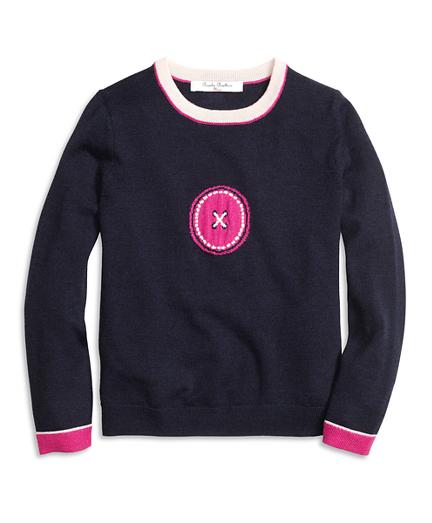 Merino Wool Intarsia Sweater