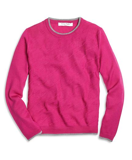 Merino Wool Houndstooth Sweater