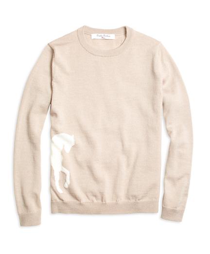 Merino Wool Horse Intarsia Sweater