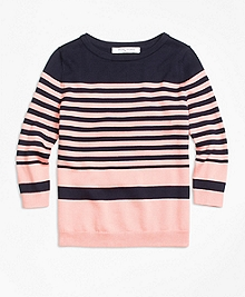 Supima® Cotton Stripe Sweater