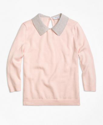 Supima® Cotton Collared Sweater