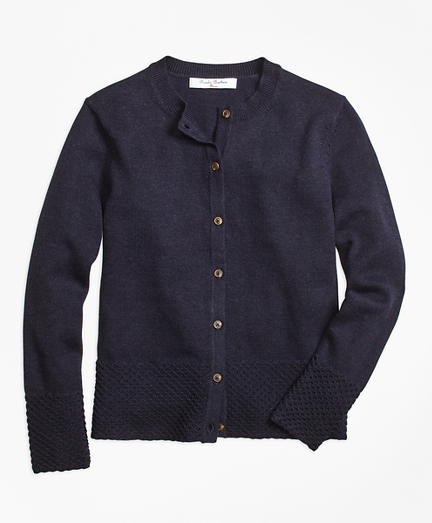 Cotton and Wool Blend Cardigan